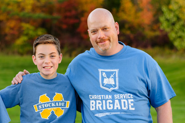 Brigade helps fathers and sons experiencing discipleship together